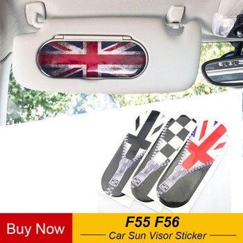 1 pieza de estilo Union Jack parasol para coche, espejo de maquillaje, pegatinas adhesivas decorativas para Mini Cooper F55 F56 accesorios de diseño para coche