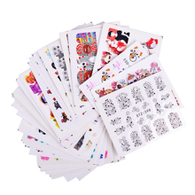 50 sheets Nail Art Water Transfer Stickers Mixed Designs Beauty Flower Watermark on nails tips Decals Wraps Nail Art Tools TRM50