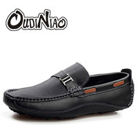 Men Shoes Casual Breathable Geniune Cow Leather Loafers British Designer Fashion Slip On Boat Driving Shoes