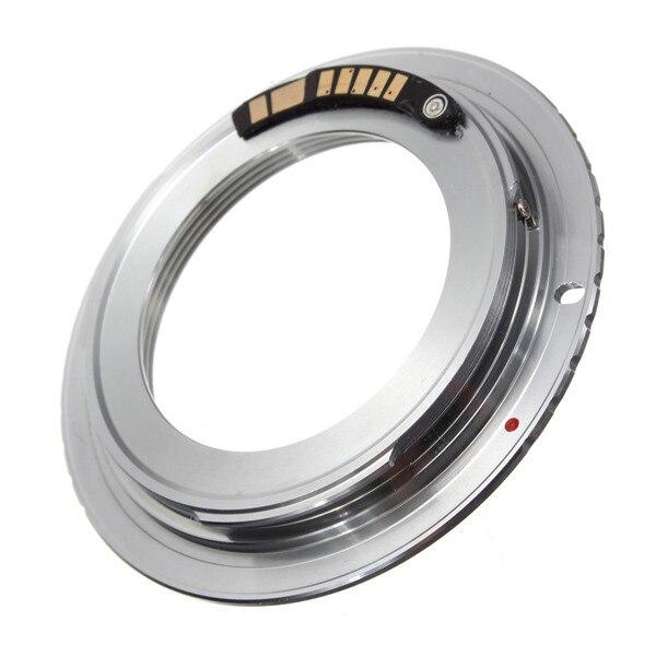 1 unids latón AF confirmar chip M42 lente para Canon para EOS adaptador de montaje 60D 50D 40D 600D 550D 500D plata