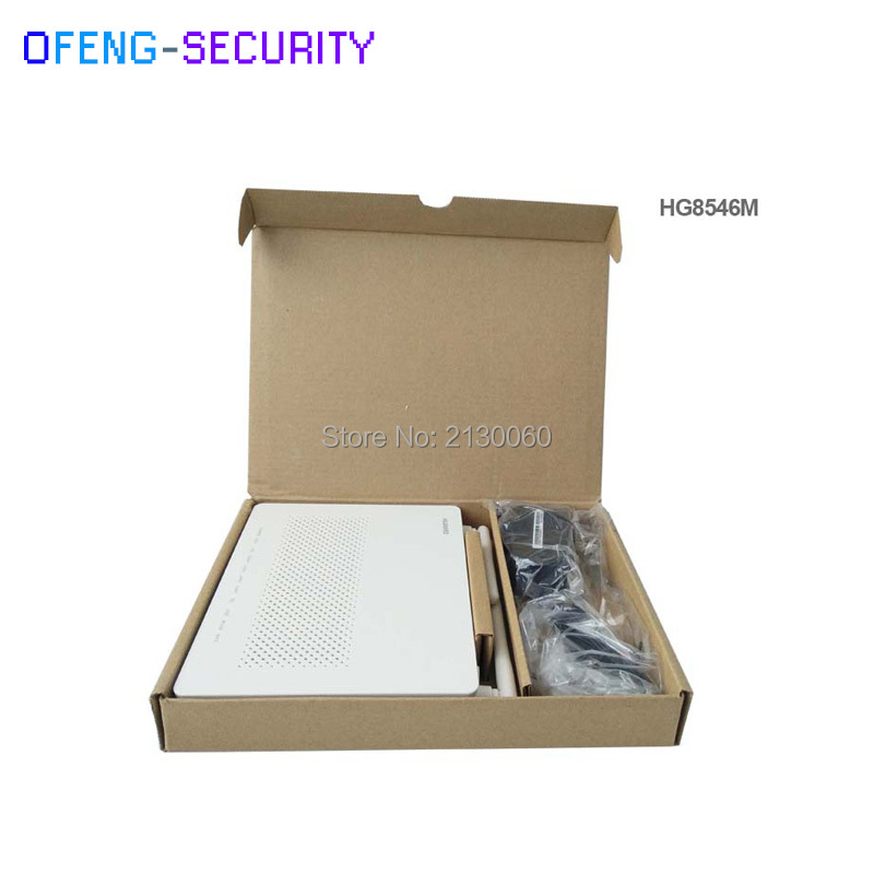 1pcs100% Original New Huawei HG8546M Gpon WiFi Ont onu 2POTS+4FE+1USB+WiFi modem with English software Telecom Network Equipment