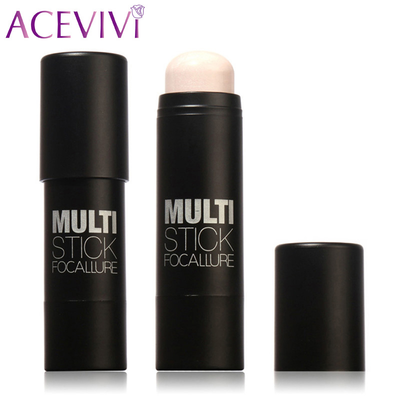 ACEVIVI Highlighter Stick All Over Shimmer Highlighting Powder Creamy Texture Water-proof 5Colors Shimmer Light Blushes Bronzer