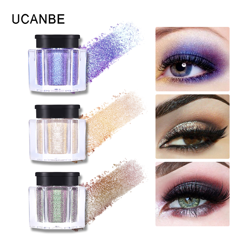 UCANBE Loose Pigment 8 Colors Glitter Eye Makeup Powder Pearl Shimmer Long-Lasting Nude Cosmetics Maquiagem TSLM1