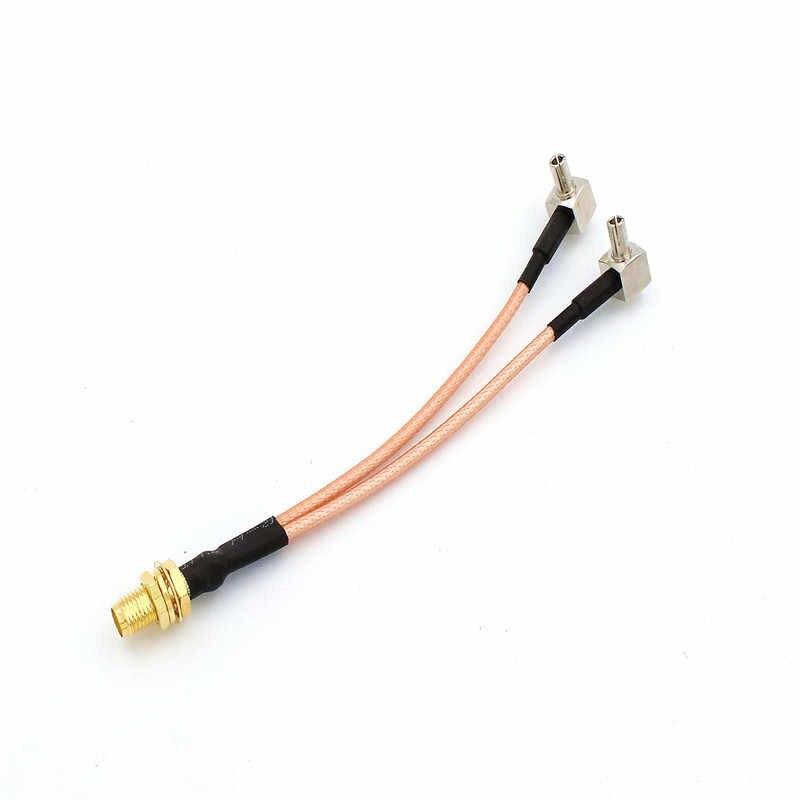 SMA dişi TS9/SMA/CRC9 erkek konnektör Splitter birleştirici RF koaksiyel Pigtail kablo kullanımı için 3G 4G modem HUAWEI ZTE