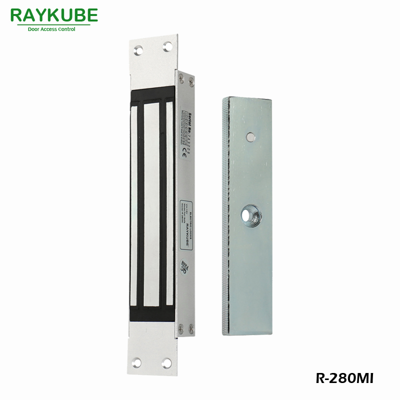 RAYKUBE 280KG(600lbs) Magnetic Lock With Mortise Mount For Dooe Access Control System Electric Lock R-280MIRAYKUBE 280KG(600lbs) Magnetic Lock With Mortise Mount For Dooe Access Control System Electric Lock R-280MI