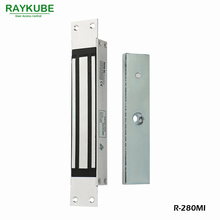 RAYKUBE 280KG(600lbs) Magnetic Lock With Mortise Mount For Dooe Access Control System Electric Lock R-280MI