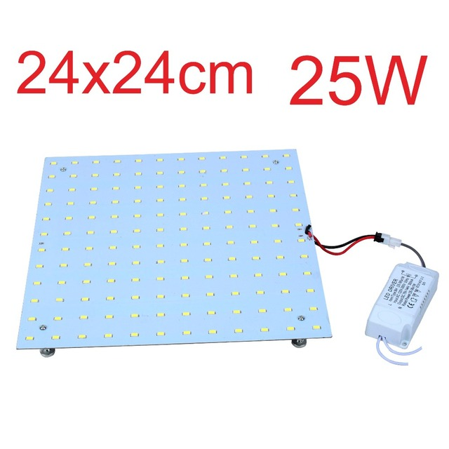4PCS 25W Retrofit  LED Ceiling Lights Aluminum Board Square LED Disc Plate Lamps Replacement 2D CFL Lights Bulb