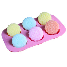 Silica Gel Cake Mold Mooncake Round Biscuit Chocoloate Molds Handmade Soap Making Silicone Mould