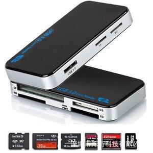 Image 3 - Baأوليدا المصغّر USB قارئ بطاقات 3.0 SD/TF Cardreader USB 3.0 الكل في واحد SD/مايكرو SD/TF/CF/MS فلاش مدمج USB بطاقة محول
