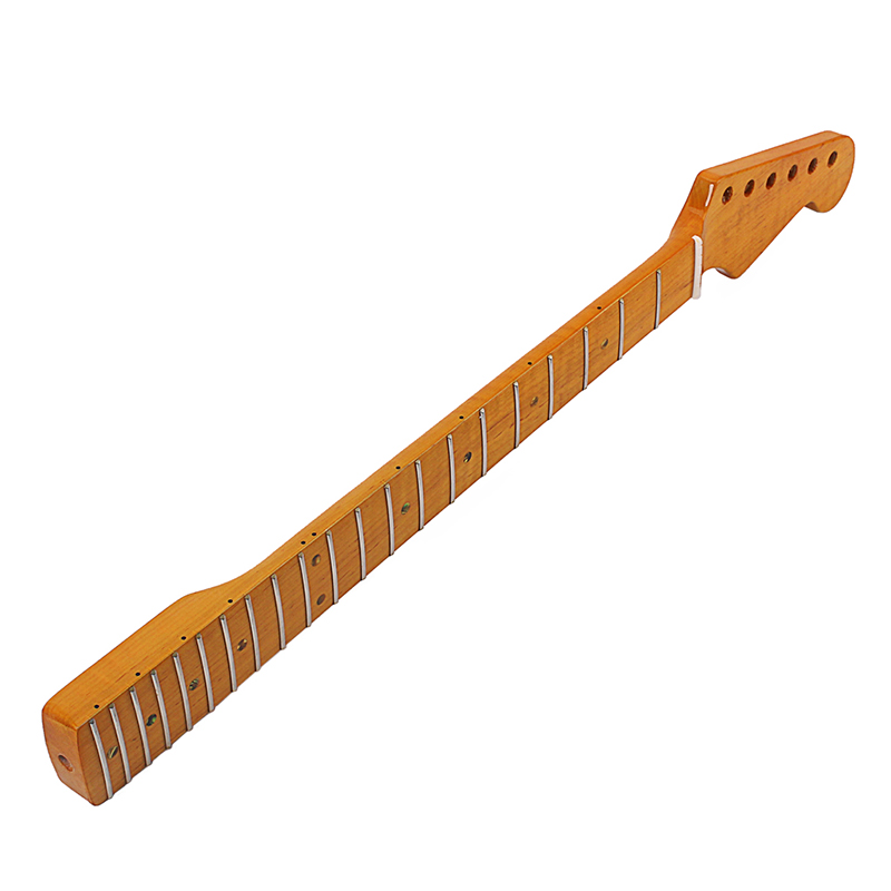 Electric Guitar Neck 21 Fret Abalone Dots Vintage Musical Instrument Replacement Accessories FK88