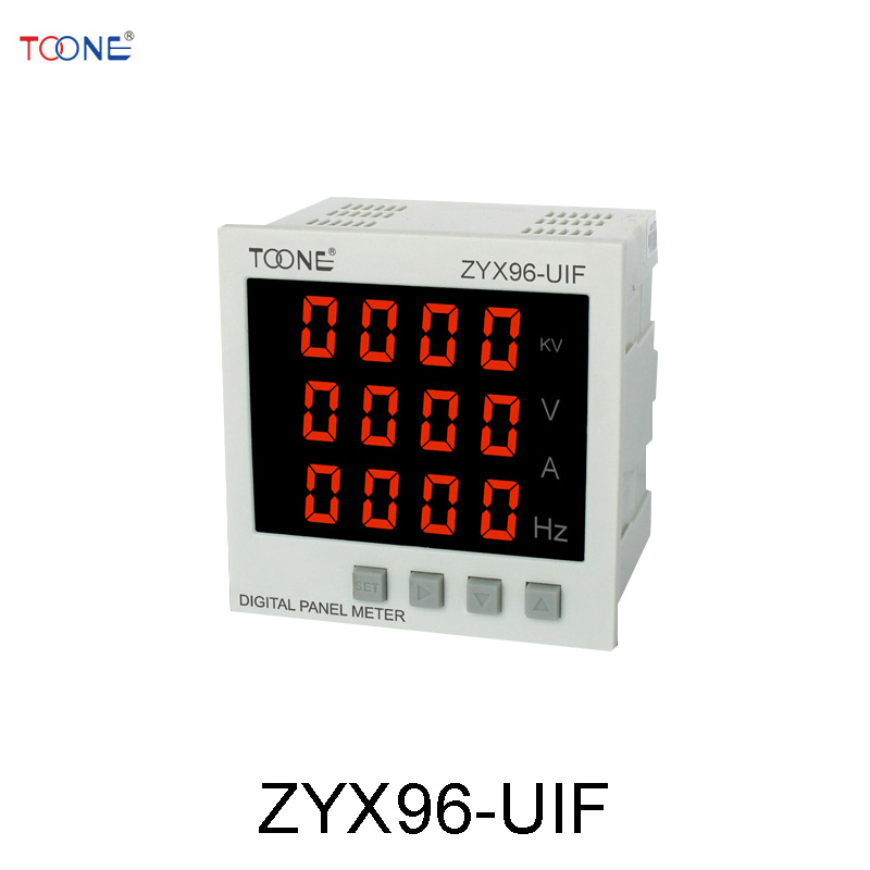 Single-phase AC digital display intelligent current and voltage frequency ZYX96-UIF / SX96 * 96AVHz three phase ac digital display intelligent current and voltage table zyx96 3ui two in one power meter