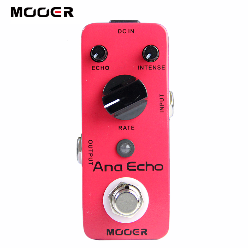 Free shipping!!!NEW Guitar Effect Pedal /MOOER Ana Echo Analog Delay Pedal Pedal,True bypass mooer ninety orange phaser guitar effect pedal micro analog effects true bypass with free connector and footswitch topper