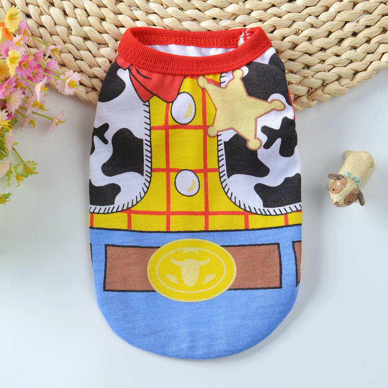 Cartoon Dog Vest Summer Clothes For Dogs Shirts Cotton Small Medium Dog Clothes Summer Pet Shirts For Dogs Costume Cat Clothing in Dog Coats Jackets from Home Garden