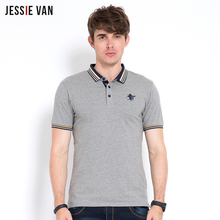 JESSIE VAN 2017 Retro Ralph Polo Shirt Men Short Sleeves Polo Shirt Horse logo Boss Free Shipping(China)