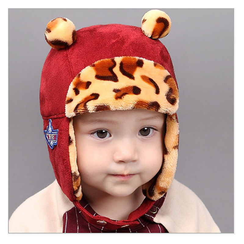 Winter plush camouflage ear muff Imitation velvet baby hat for Girls Boys headband Hats children photography costume baby caps