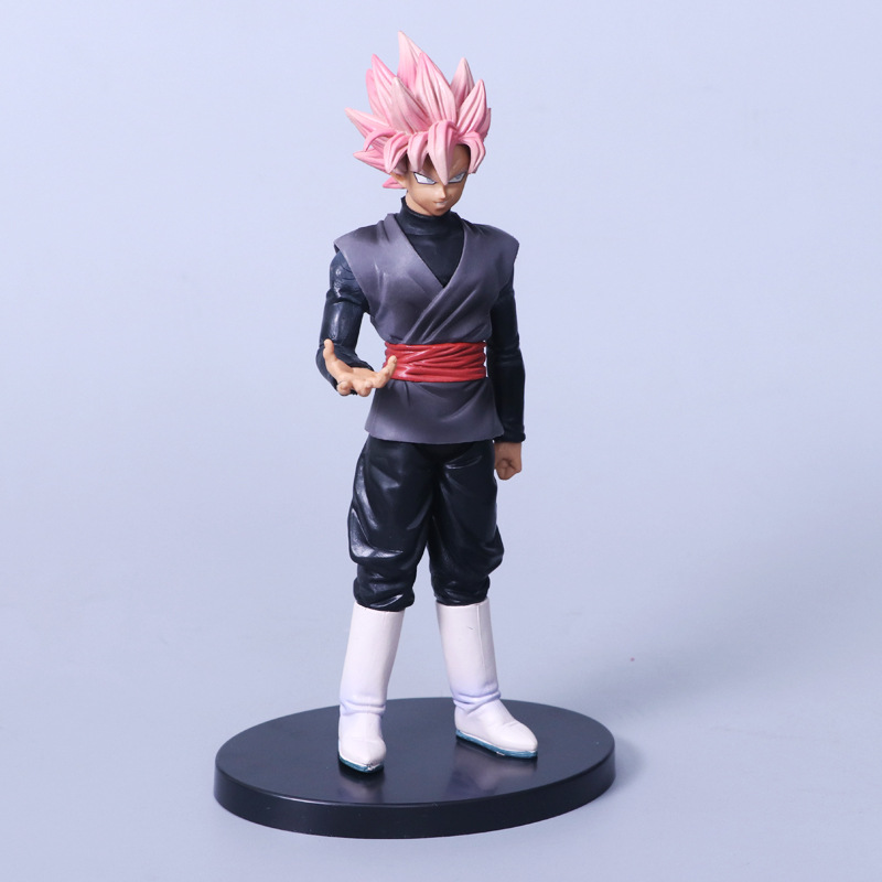 Dragon Ball Z Goku Figure Toy Super Saiyan God Red Hair Son Gokou Anime Dbz Model Doll Action & Toy Figures