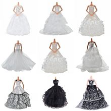 "1PCS Hot Selling New Summer Luxury White Cloth Party Wedding Dress For Girls 11"" Doll Clothes Accessories(China)"