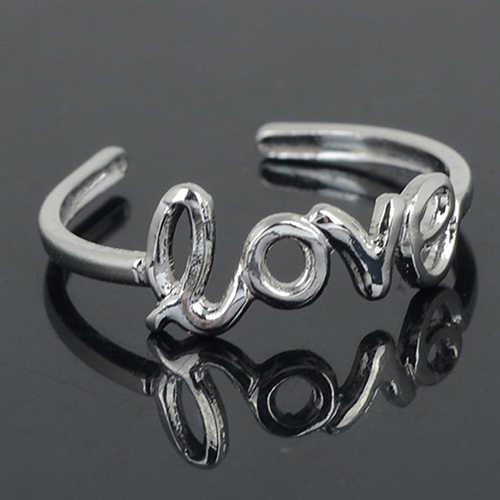Женские Модные Простые открытые Регулируемые кольца с открытым носком, пляжные ювелирные изделия, кольца из нержавеющей стали для женщин, обручальное кольцо