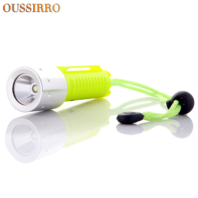 OUSSIRRO Waterproof Mini T6 Diving Flashlight Bright Rechargeable Lights  LED Diving Lamp For Fishing Hunting Etc