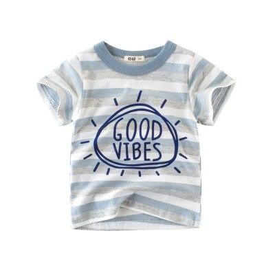 Loozykit/Летняя детская футболка для мальчиков футболки с короткими рукавами и принтом короны для маленьких девочек хлопковая детская футболка футболки с круглым вырезом, одежда для мальчиков - Цвет: Style 22