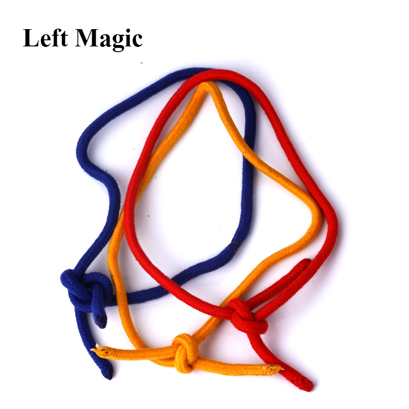 Three Strings Linking Ropes Magic Tricks Red Yellow Blue Magic Rope Close-Up Street Magic Props Illusions Gimmick Accessories