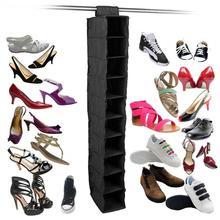 Organizador de guardarropa organizador de armario, zapatos de bolsillo, cojín, almohada, almacenamiento de ropa de gabinete, estante de almacenamiento de zapatos de tela