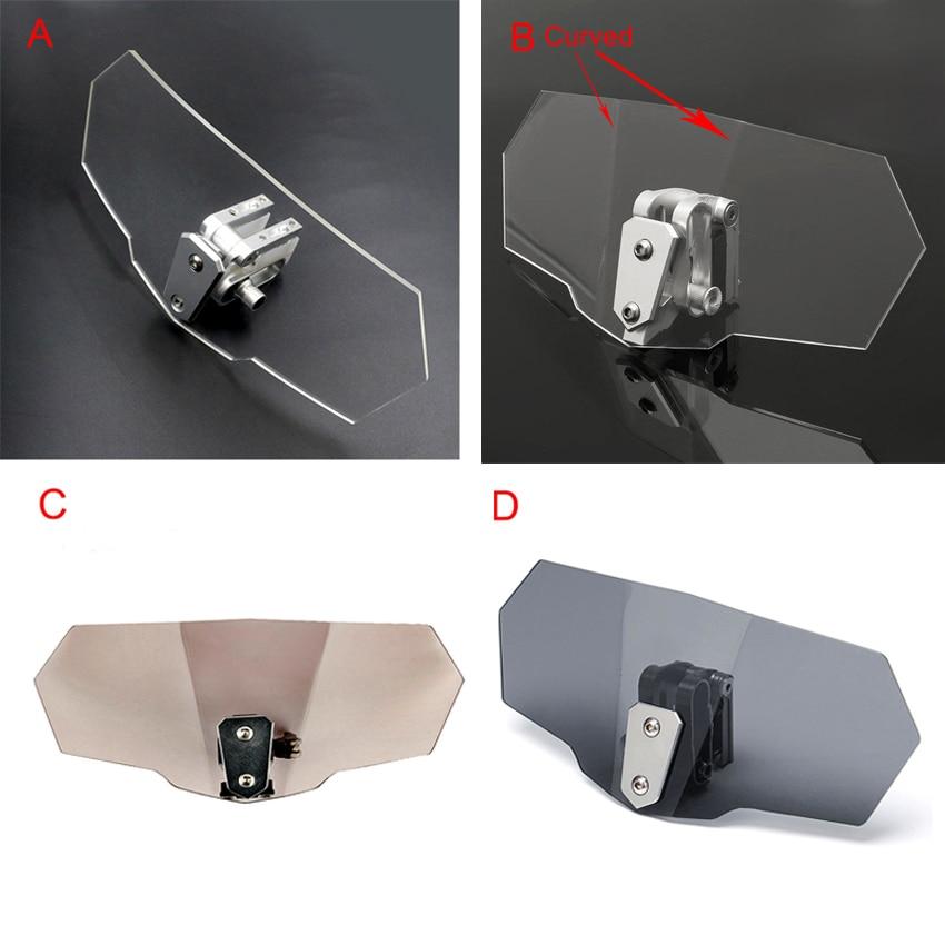 Deflector de viento universal ajustable para parabrisas de motocicleta, para royal enfield Himalaya fz16 cb 400 mt07 2019