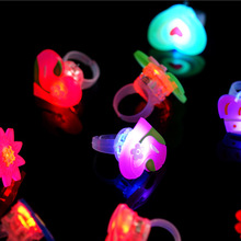 500 шт дети мультфильм светодиодный мигающий сверкающие с подсветкой палец кольца Детские вечерние веселые игрушки подарки для детей wen4747