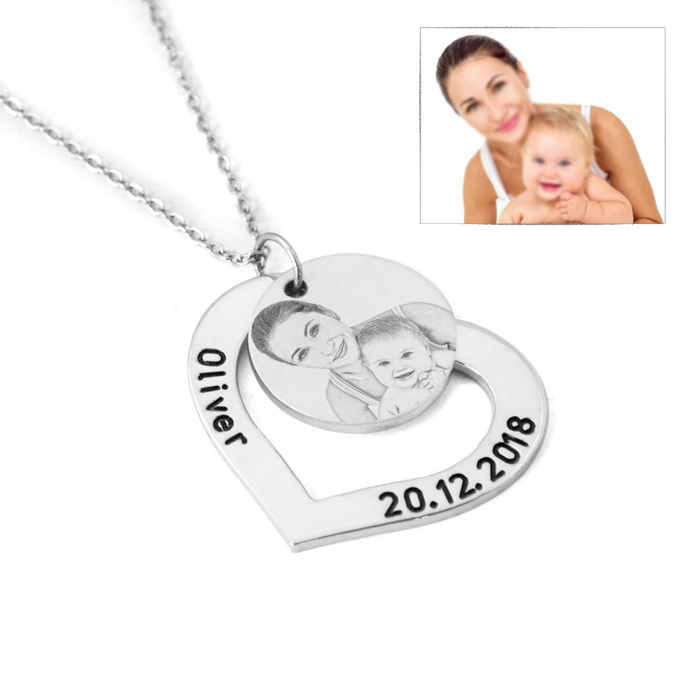 Hear Picture Necklace,Photo Necklace,Personalized Engraved Name Necklace,Gift for Her,Mothers Day Gift,Christmas Gift for herHear Picture Necklace,Photo Necklace,Personalized Engraved Name Necklace,Gift for Her,Mothers Day Gift,Christmas Gift for her