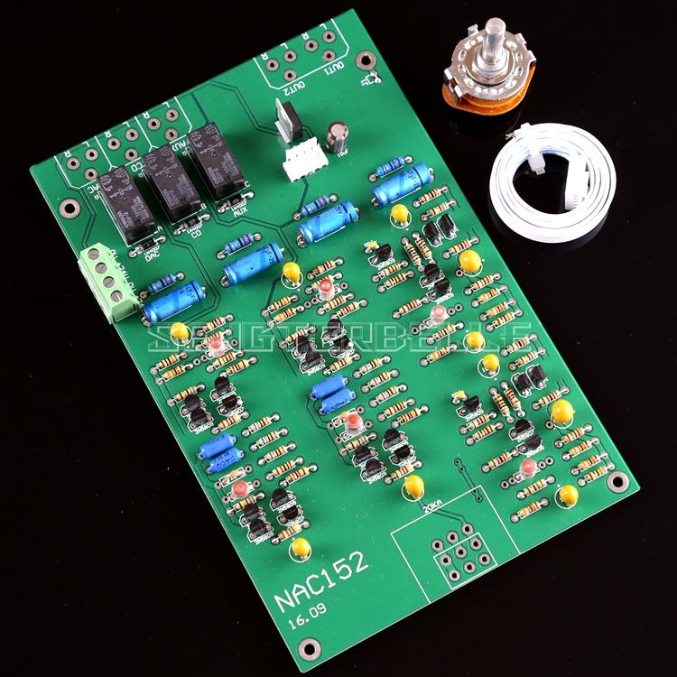 Assemby 2N5087/2N5089 HIFI Preamplifier Board Based on NAIM NAC152 Pre-amp Circuit assembeld hifi nac152 preamplifier board base on naim nac152xs preamp