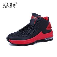 2018 Scarpe Da Basket degli uomini Cuscino D aria scarpe Da Tennis di Sport  Degli Uomini di Alta Top Traspirante scarpe Da Ginna. 5b892439287