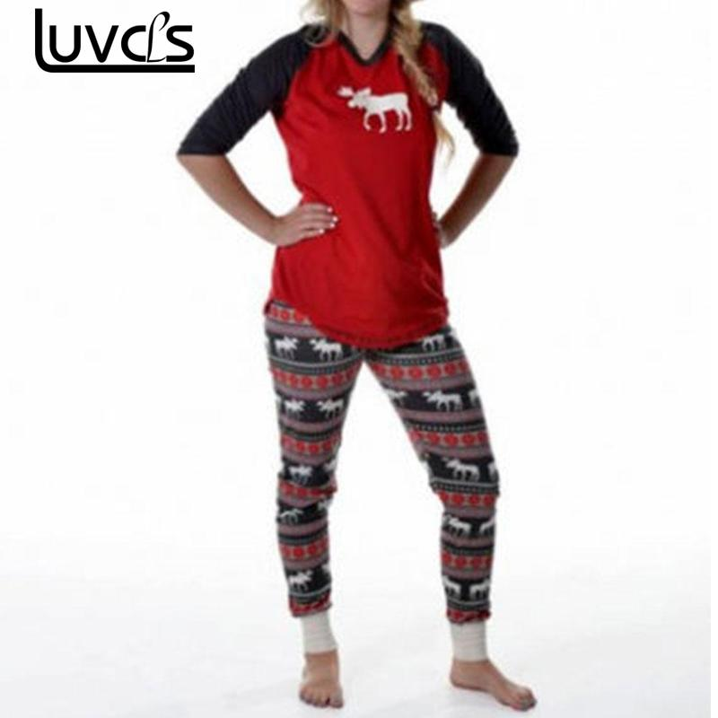 luvcls couple pajama sets christmas pajamas set warm lovers sleepwear nightwear women men clothes matching christmas outfits