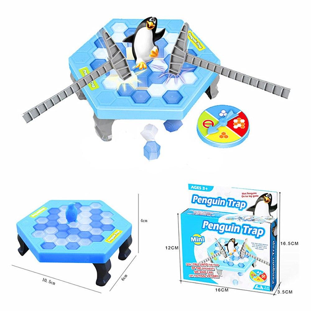Mini Penguin Trap Puzzle Jocuri de masă Balanță Cuburi de gheață - Produse noi și jucării umoristice