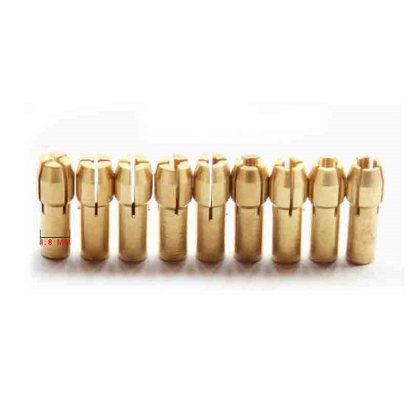 Mini Drill Chucks 0.5-3.2mm Fit For Micro Twist Electronic Dremel Drill Collet Clamp Set Power Tool Accessories With Wrench