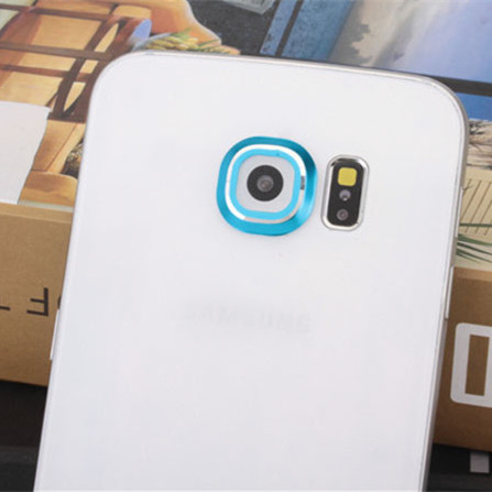 Para Samsung Galaxy S6 S6 caso extremo cámara trasera vidrio Metal Protector de