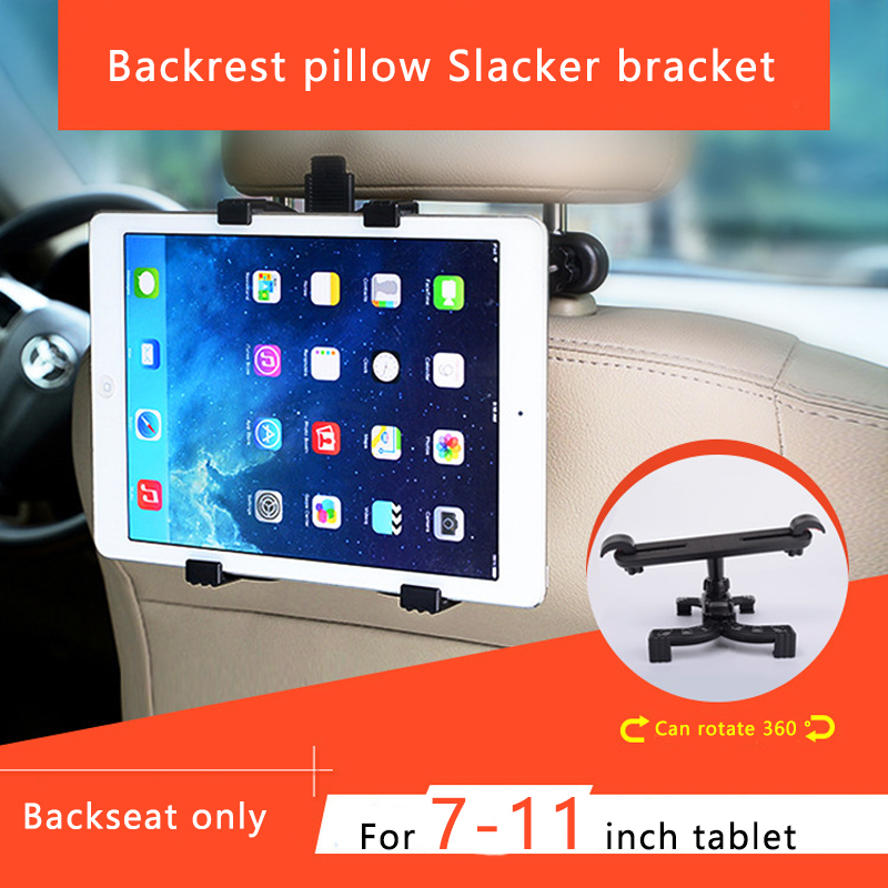 Car Front Seat Rear Pillow Tablet Bracket Universal Car Holder Back Seat Tablet Bracket Mobile Phone Tablet Universal Bracket(China)