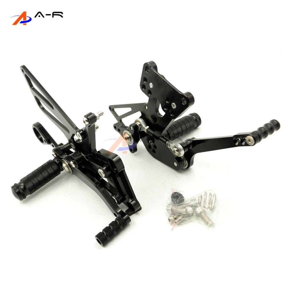 Black Motorcycle CNC Adjustable Rearsets Footrest Foot Pegs Rear Sets Kit for BMW S1000RR S 1000RR 2009-2014 2013 2012 2011 2010 8 color for ducati 999 949 749 748 916 996 998 cnc adjustable rearsets rear set motorcycle footrest hot high quality moto pedal
