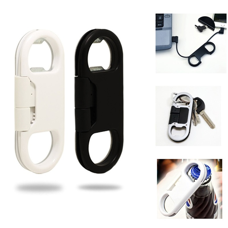 3 in 1 beer bottle opener keychain data cable usb charging cable portable multifunction data. Black Bedroom Furniture Sets. Home Design Ideas