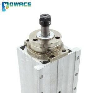 """Image 5 - [מניות איחוד אירופי/משלוח מע""""מ] 0.8KW כיכר אוויר מקורר ציר מנוע ER11 24000 סל""""ד 400Hz 6.5A Engarving כרסום לטחון עבור CNC נתב"""