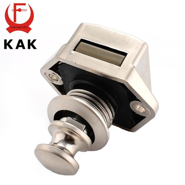 10PCS KAK Camper Car Push Lock 20mm RV Caravan Boat Motor Home Cabinet  Drawer Latch Button