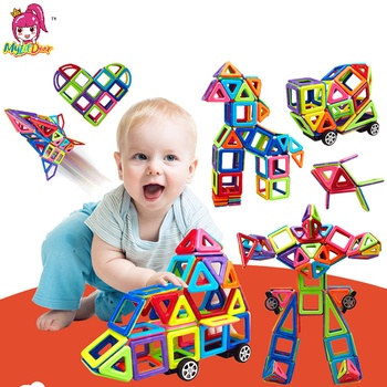 MylitDear 158PCS Big Size Magnetic Blocks Educational Construction Set Models Building Toy ABS Magnet Designer Kids