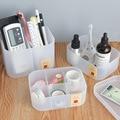 Простой Настольный ящик для хранения косметики Coloffice  прозрачная канцелярская коробка для хранения  Scrub pp box  держатель для обучающей ручки д...