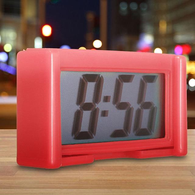 Auto Klok Auto Klok Elektronische Horloge Auto Dashboard Lcd-scherm Grote Digitale Klok Tijd Zelfklevende Beugel Woonaccessoires