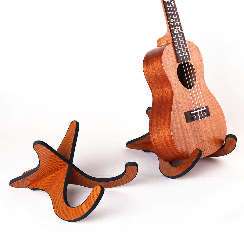 ammoon Ukulele Stand Portable Folding Wood Stand for Mandolins and Violins