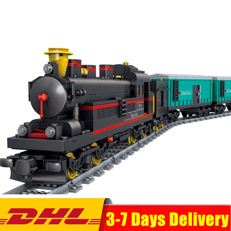 KaZi KY98103 821 Pcs China YUEJIN Train Electric Track Building Bricks Blocks Model Educational Toys Christmas Gifts In Stock