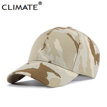 CLIMATE Men Caps Men Camouflag Baseball Cap Army Desert CAMO Sand khaki Caps Fishing Hunting Sport Cotton Hat Cap Hat for Men lige horloge 2017