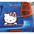 Acessórios do carro olá kitty adesivos de carro engraçado e decalque para toyota ford volkswagen chevrolet honda hyundai kia lada skoda golfe