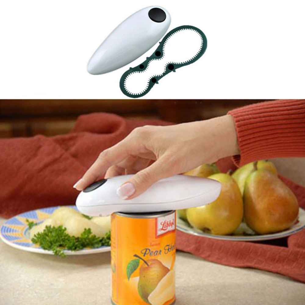 UK Cordless Kitchen Ware One Touch Electric Auto Hands Free Jar Can Tin Opener