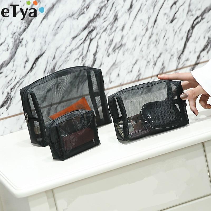 1PCS ETya Fashion Women Cosmetic Bags Travel Makeup Pouch Case Zipper Storage Toiletry Beauty Wash Storage Organizer Set