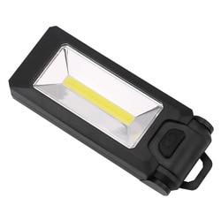 4 LED + COB 자기 작업 빛 접이식 후크 텐트 램프 토치 Linternas 테르 2 모드 손전등 핸디 조명 사용 AAA